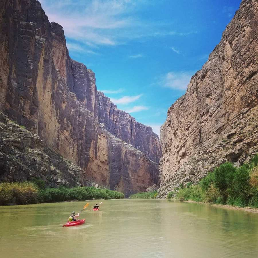 Entering the Santa Elena Canyon