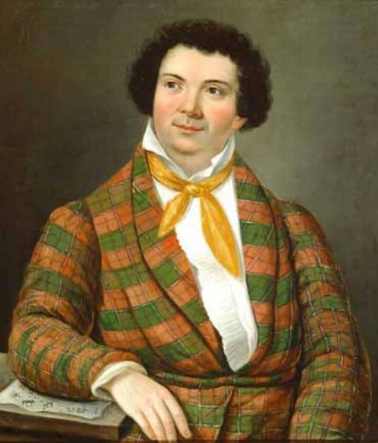 09. Anonyme, Portrait de Rossini vers 1817 au moment du Barbiere