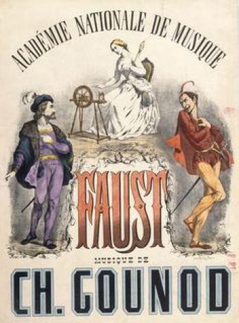16. Gounod, Faust, Affiche pour la 500ème