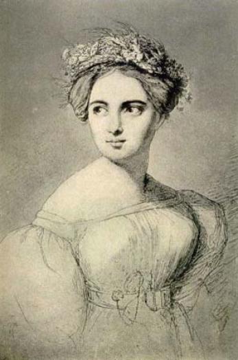 37. Portrait de Fanny Mendelssohn par son mari Hensel