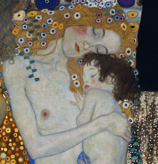 Blog 2701 Gustav Klimt, Les Trois Âges de la Femme, 1905 détail