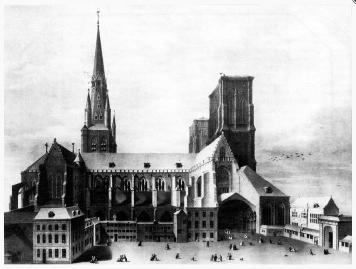Liège, Cathédrale Saint Lambert par Cremetti d'après Deneumoulin
