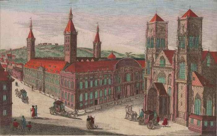Liège, le Palais et Saint-Lambert