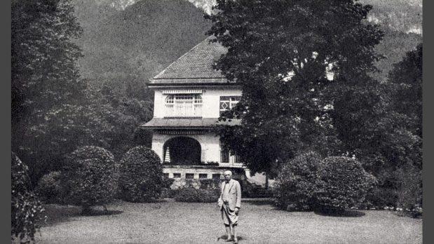 Strauss dans sa villa à Garmich