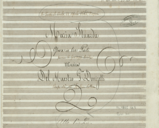 25. Donizetti, Maria Stuarda autographe, page de garde