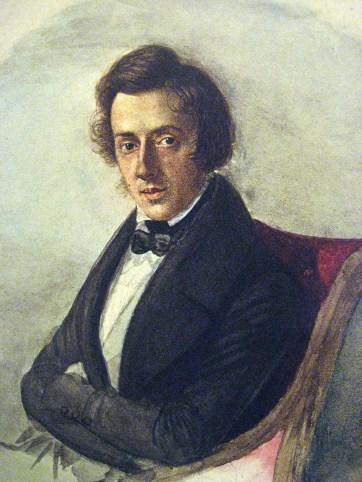 32. Chopin peint sur une toile de Maria Wodzińska de 1835