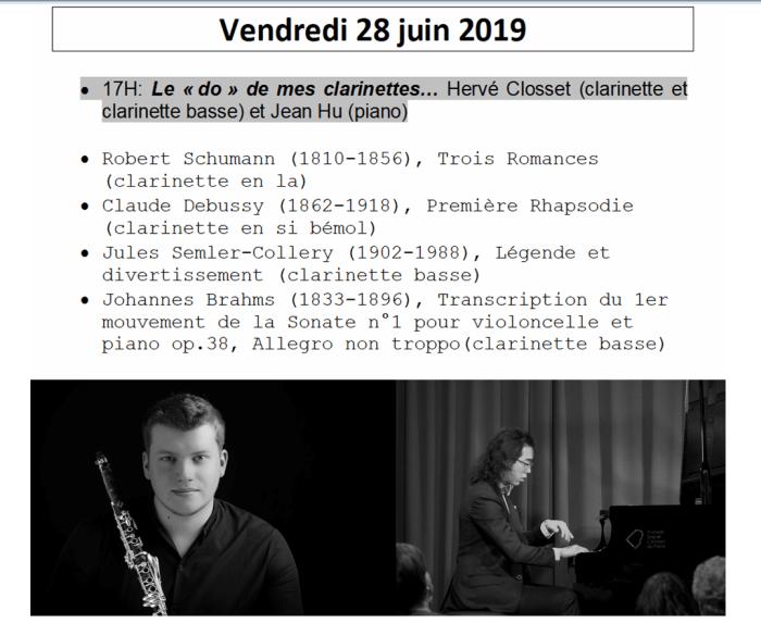 Récital Hervé Closset Jean Hu