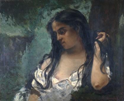 39. Gustave Courbet, Une gitane mélancolique