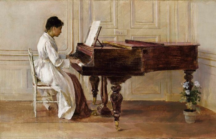 Theodore Robinson - At the Piano - 1929.