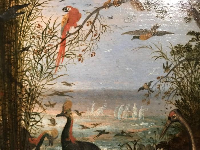 Roelandt-Savery-1576-1639-Oiseaux-avec-le-corps-dOrphée-et-les-Muses