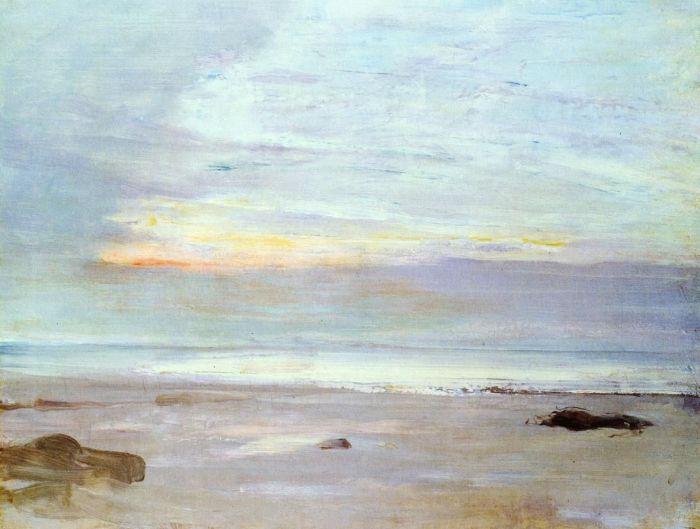 15a. James Abott PcNeill Whistler, Crépuscule en Opale, 1865.