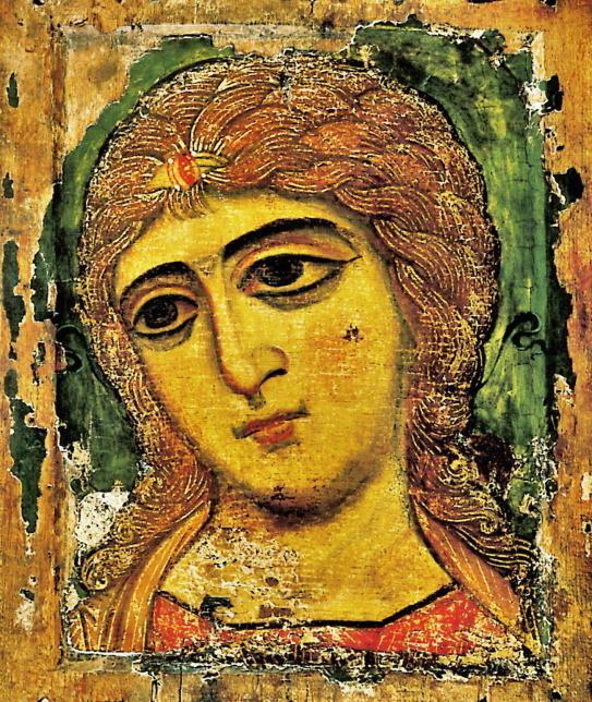 17. Icône de Novgorod, L'ange aux cheveux d'or 12ème S