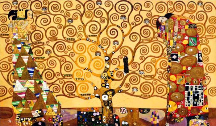 19a. G. Klimt, l'Arbre de Vie, 1909