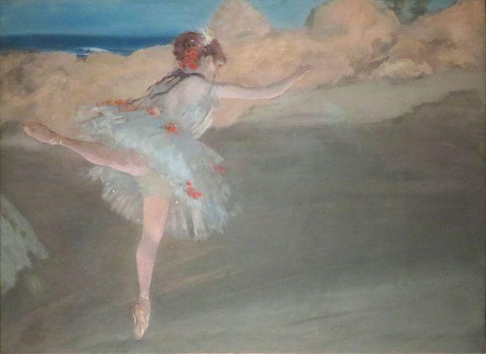 24a. Edgar Degas, La Danseuse étoile sur pointe, vers 1878-80, Gouache et pastel
