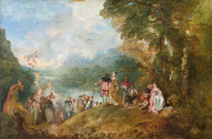 25a. L'Embarquement pour Cythere, by Antoine Watteau