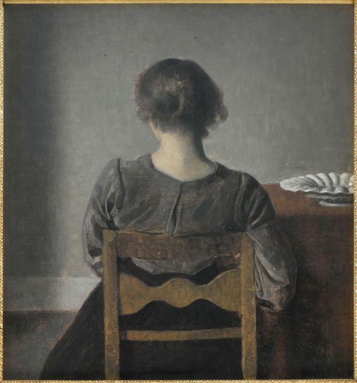 27. Vilhelm Hammershoi, Hvile dit aussi Repos, 1905