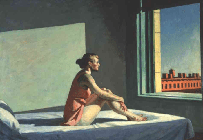 30a. Edward Hopper, Morning Sun 1952.