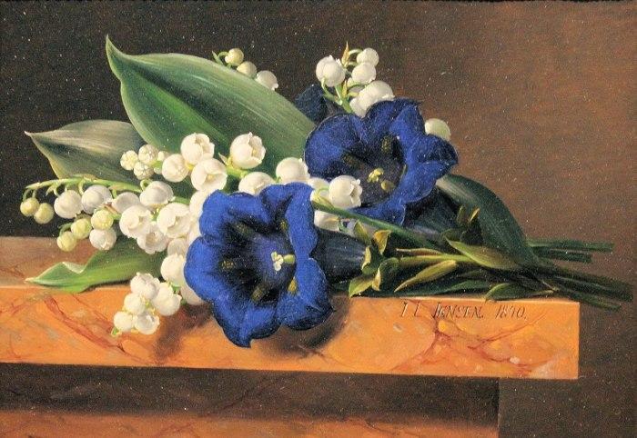37d. Johan Laurentz Jensen (1800-1856), Nature morte au muguet.
