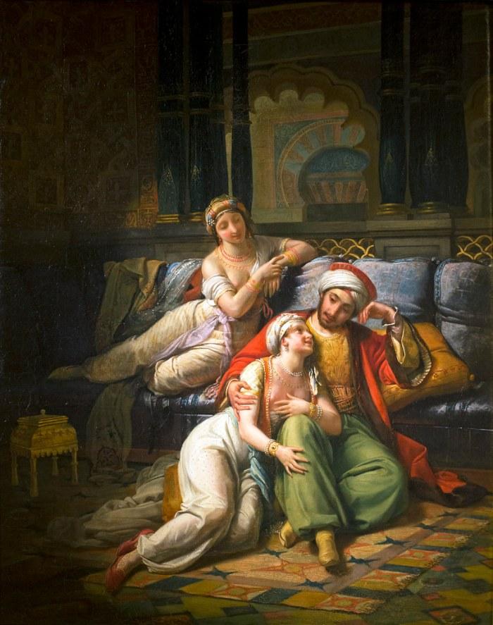 46f. Paul Emile Destouches (1794-1874), Schéhérazade, accompagnée de sa soeur, 1824.