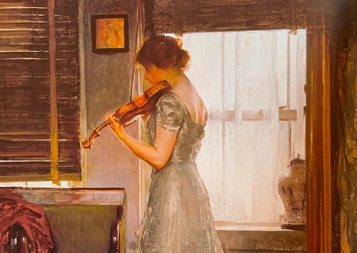 51a. Joseph DeCamp (1858-1923), La Violoniste (détail), 1902