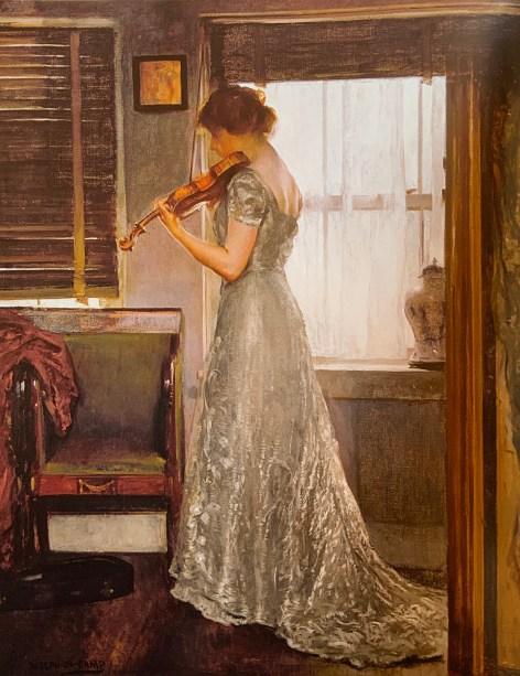 51b. Joseph DeCamp (1858-1923), La Violoniste, 1902