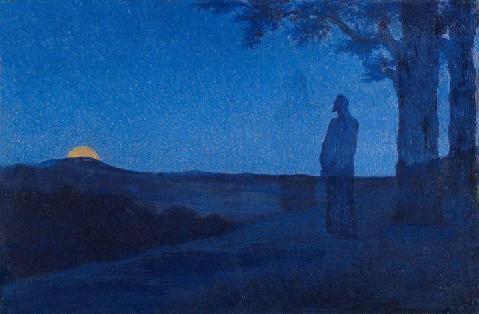 60. Alphonse Osbert (1857–1939), La Solitude du Christ, 1897.