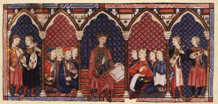 63a. Cantigas de Santa Maria, enluminue 1