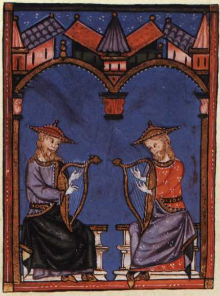 63b. Cantigas deux harpes