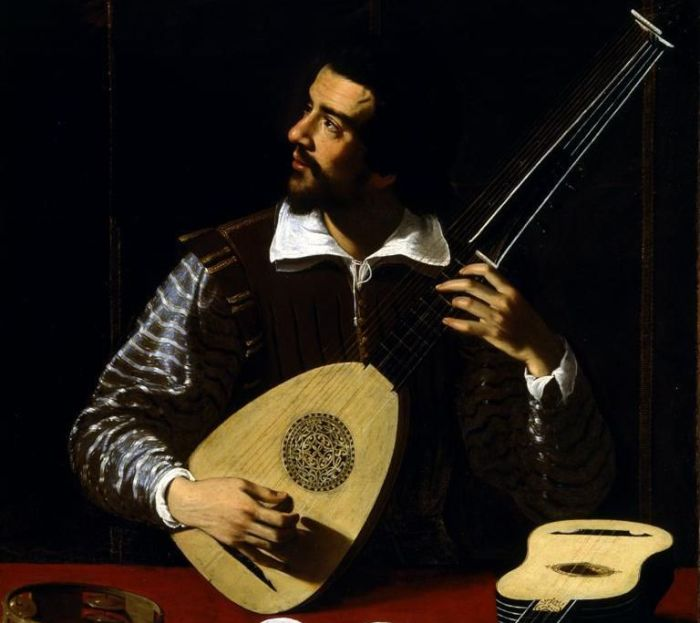 66a. Antiveduto Grammatica, Le Joueur de théorbe, vers 1615 a.