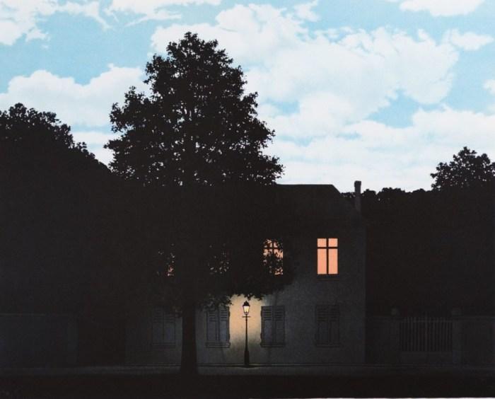 71a. René Magritte, L'Empire des Lumières a, 1954.