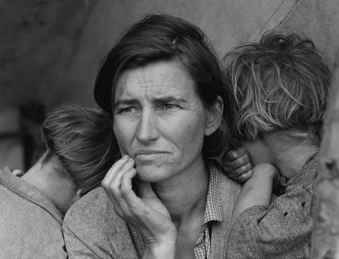 73b. Mère migrante (Migrant Mother), par Dorothea Lange, 1936