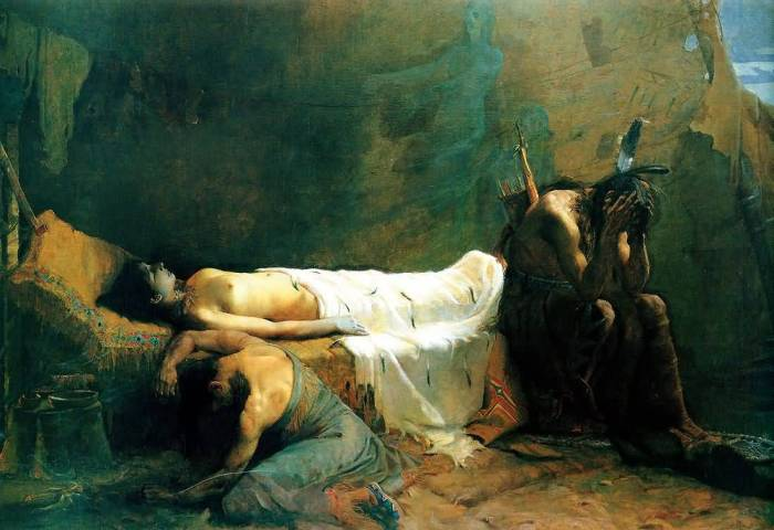 81a.William de Leftwich Dodge, La Mort de Minehaha, 1892
