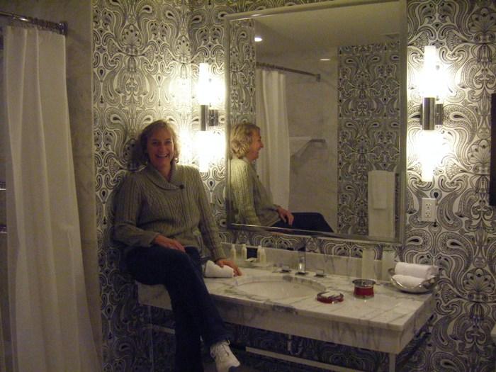 the huge bathroom
