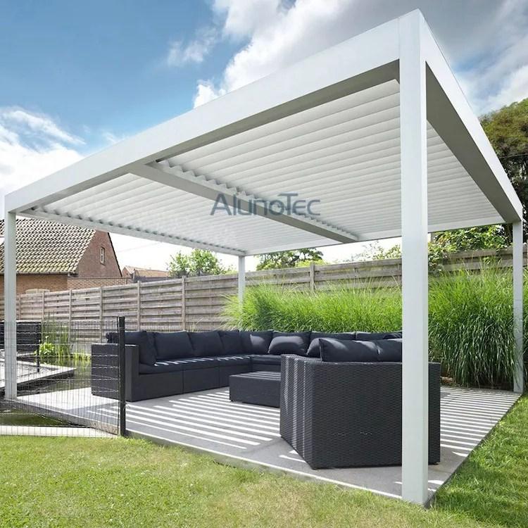aluminum adjustable shade pergola with louvered roof buy shade pergola adjustable pergola aluminum pergola product on aluminum pergola alunotec