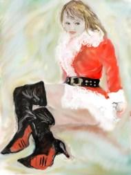 E-0020-007, Modèle de Nowell...Christmas model, art digital, 2015-07-01