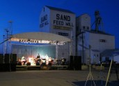 Main Street was blocked off for a concert and the all-school reunion last weekend in Marcus, Iowa.