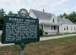 It was closed, but it was nice to walk the paths that Robert Frost walked
