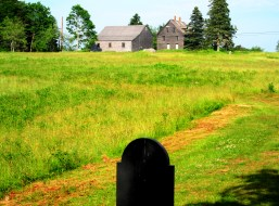 Wyeth's gravesite and the house