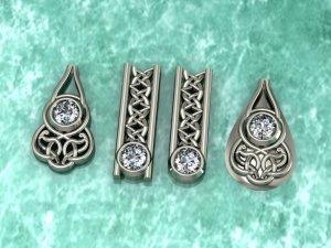 Celtic Style Diamond Crested