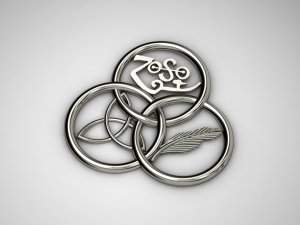 Three Circle Celtic Pin