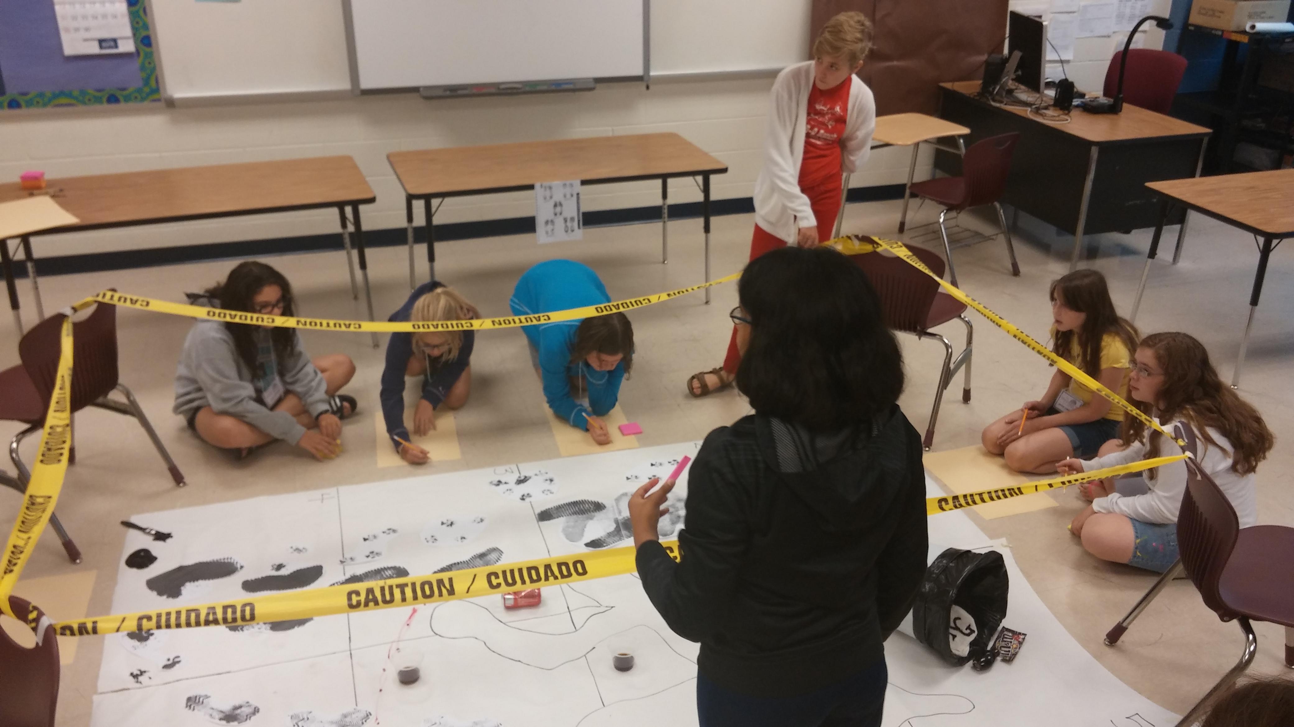 Students Embark On Crime Scene Investigation