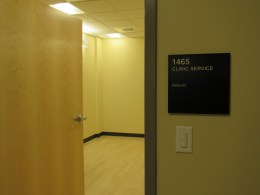 Entrance to the room that will house the future x-ray machine