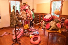 The different pieces took up entire rooms and were draped over chairs, tables and the floor