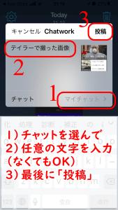 Chatworkの共有画面