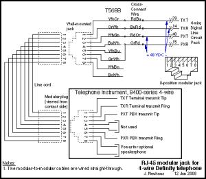 Avaya Definity Telephone Wiring