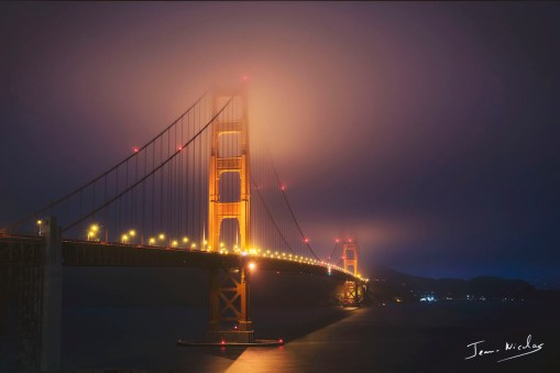 San Francisco - The Golden Gate Bridge at night copie