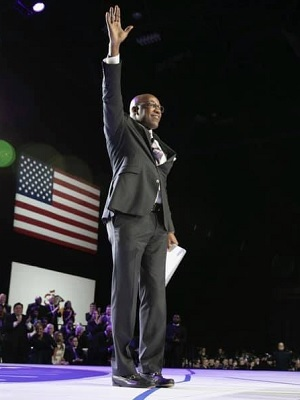 Kwame Raoul at his swearing-in ceremony earlier this month