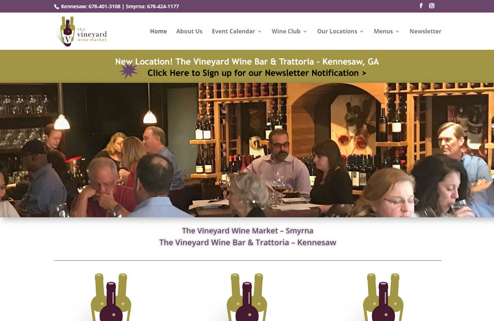 Vineyard Web Design - Alpharetta, GA Web Designer