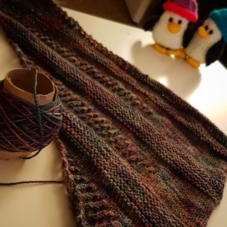 Knitting my shawl