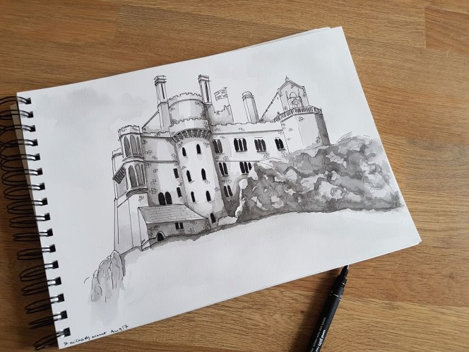 st-michaels-mount-drawing